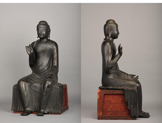 銅造釈迦如来像